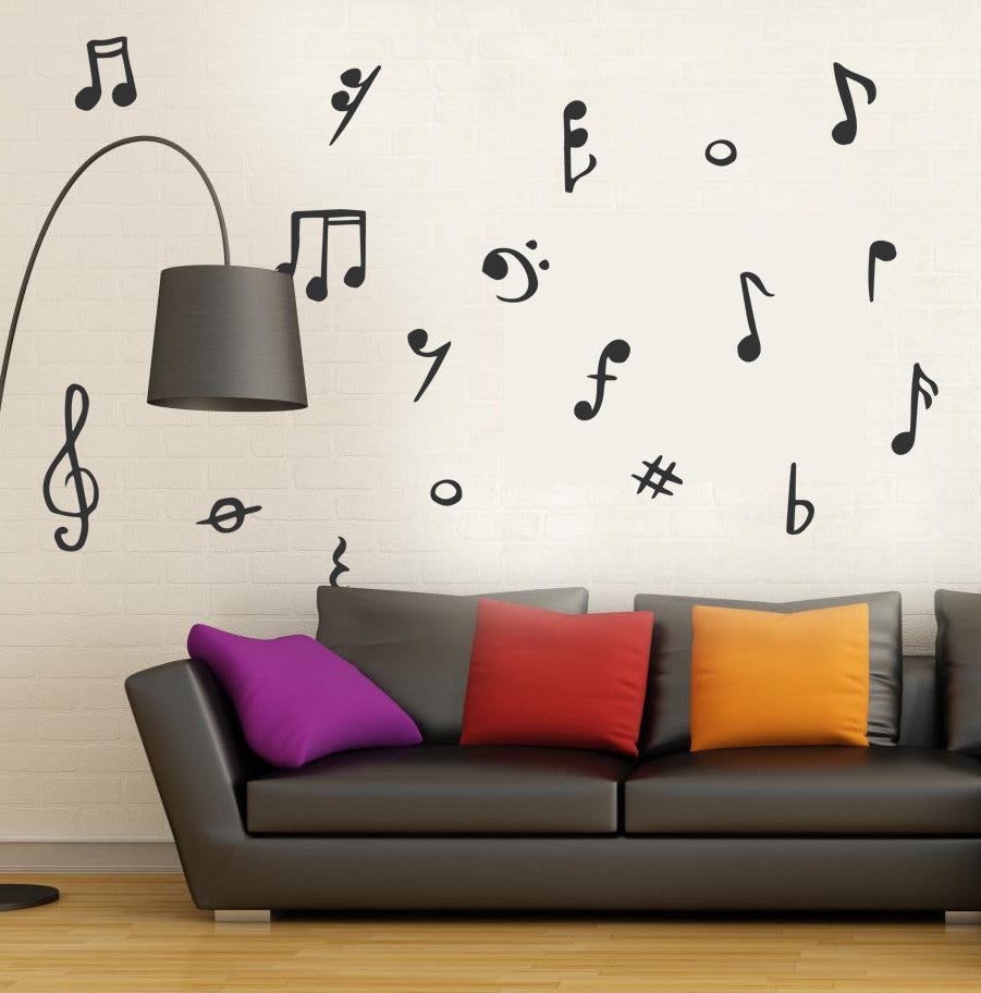 Musical Wall Stickers Pack