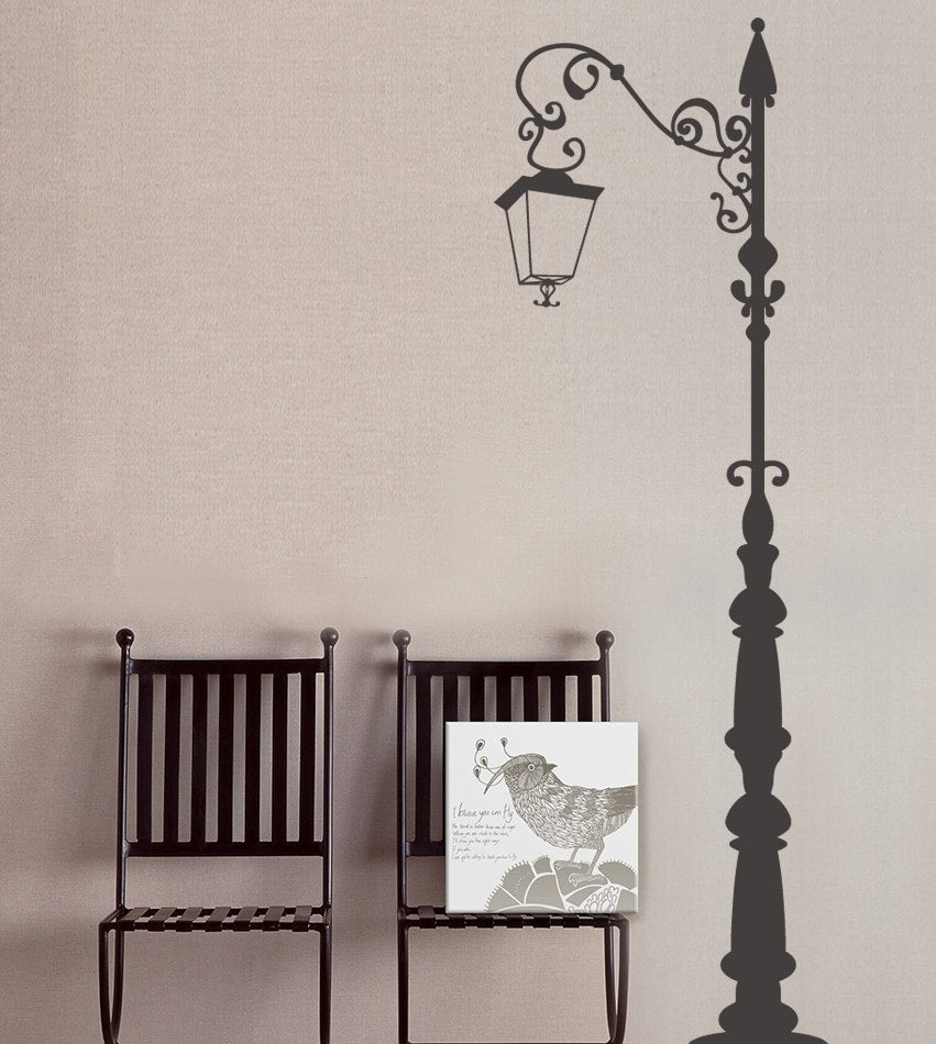 Tall Lamp Post Wall Sticker - Wall Chick
