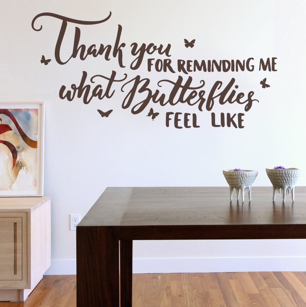 Thank You For Reminding Me Wall Sticker