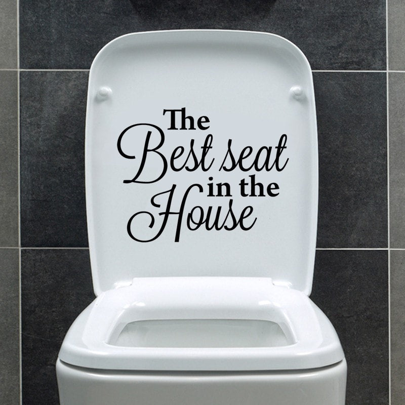 The Best Seat Wall Sticker - Wall Chick