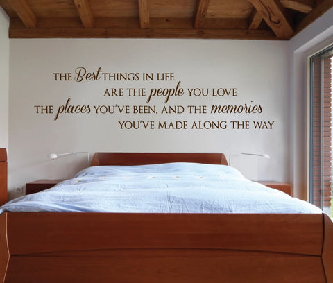 The Best Things In Life Wall Sticker - Wall Chick