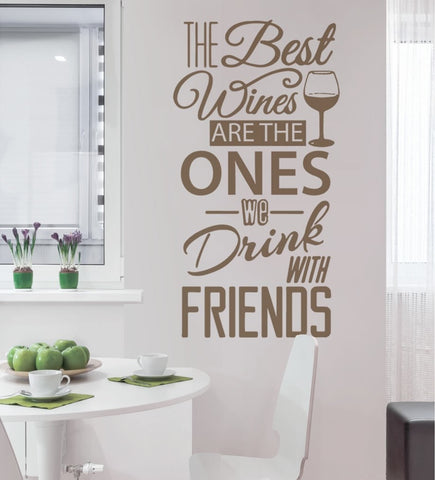 The Best Wines Wall Sticker - Wall Chick