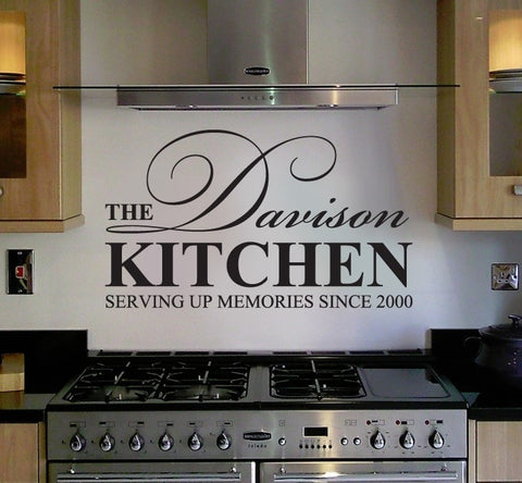 The Family Kitchen with Name Wall Sticker - Wall Chick