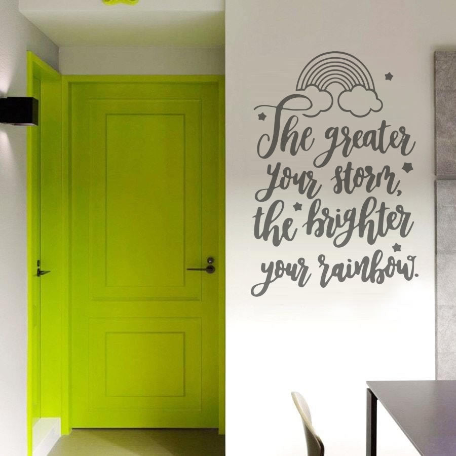The Greater Your Storm Wall Sticker