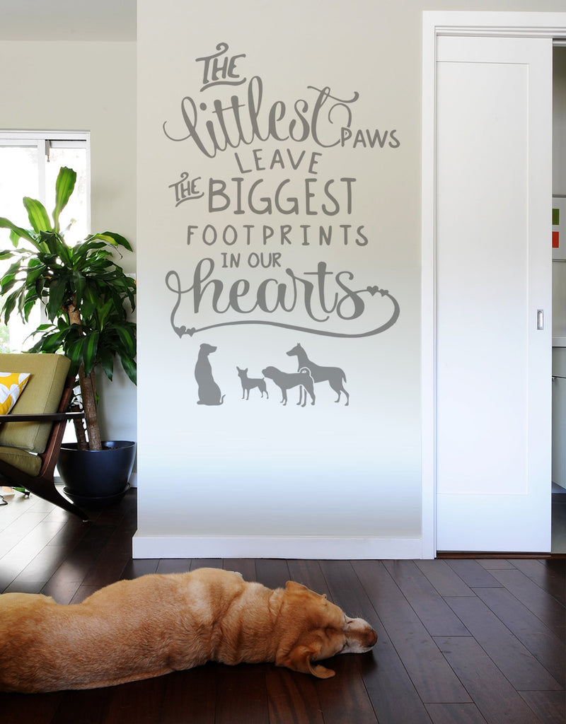 The Littlest Paws Dog Wall Sticker