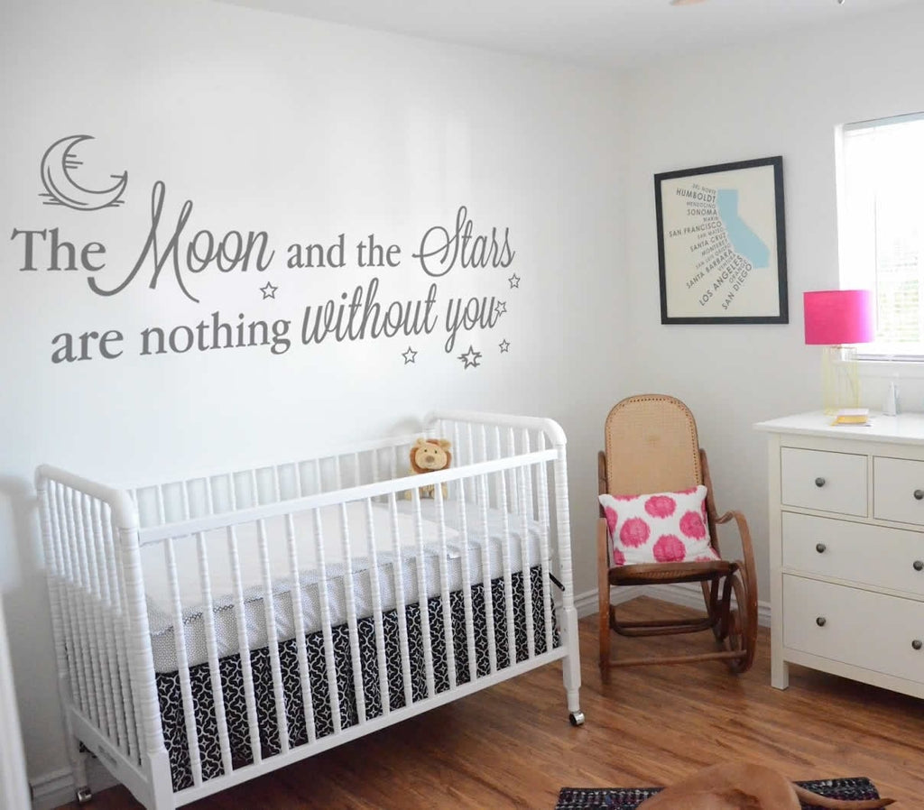 The Moon and The Stars Wall Sticker - Wall Chick
