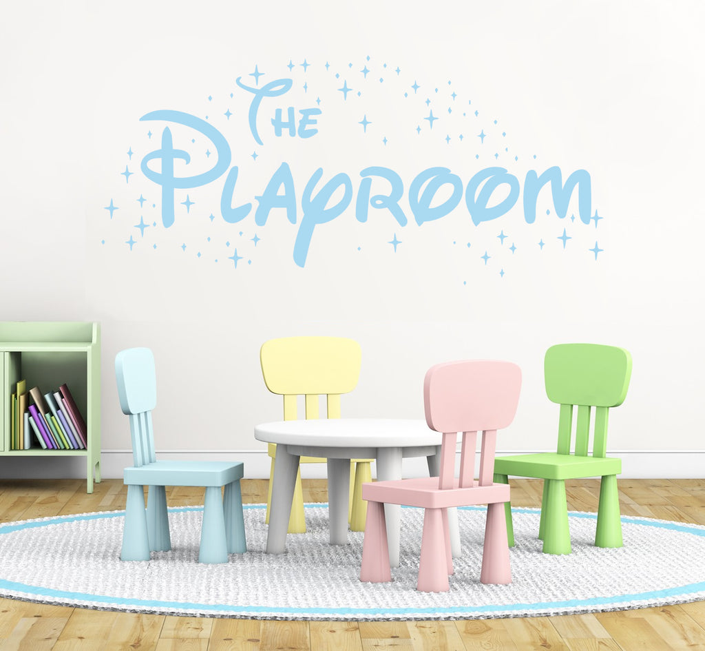 The Playroom Wall Sticker with Stars 2ft Wide Purple Clearance