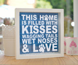 This Home is Filled with Dogs Glitter Frame