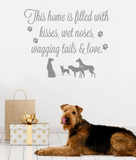 This Home Is Filled With Dogs Wall Sticker