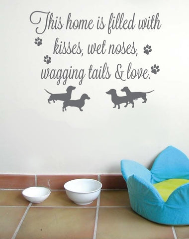 This Home Is Filled With Dogs Wall Sticker - Wall Chick