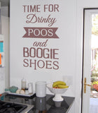 Time For Drinky Poos Wall Sticker - Wall Chick