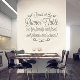 Times at the Dinner Table Wall Sticker