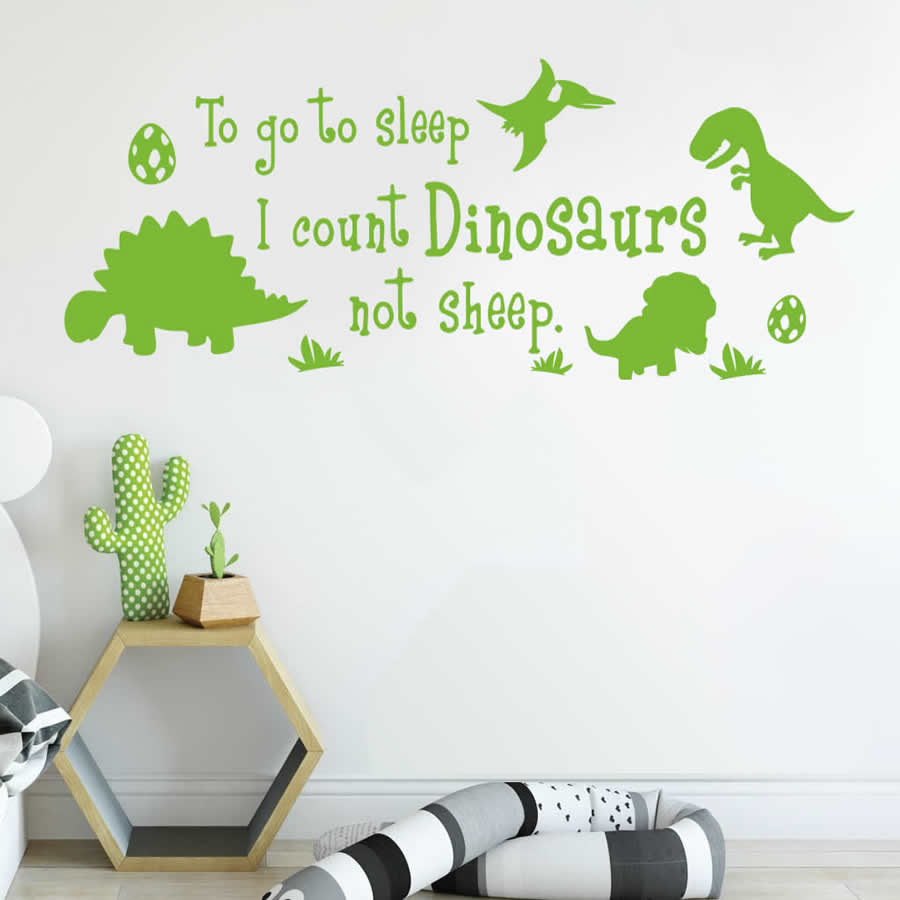 To Go To Sleep I Count Dinosaurs Wall Sticker
