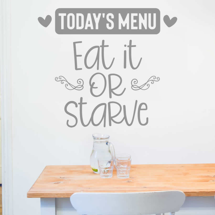 Todays Menu Wall Sticker
