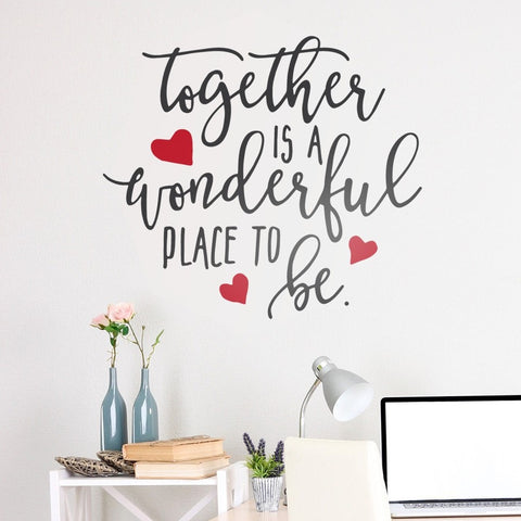 Together is a Wonderful Place Wall Sticker - Wall Chick