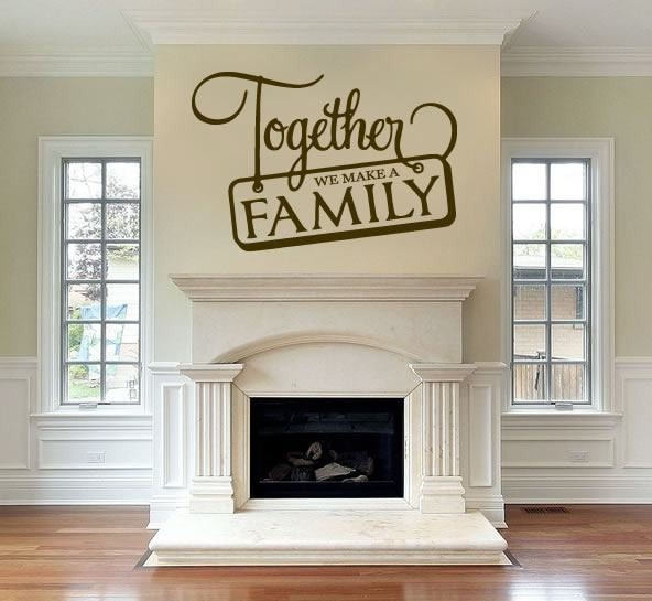 Together We Make a Family Wall Sticker - Wall Chick