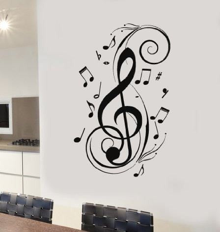 Treble Clef Wall Sticker - Wall Chick