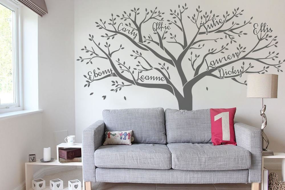 Tree With Names Wall Sticker - Wall Chick