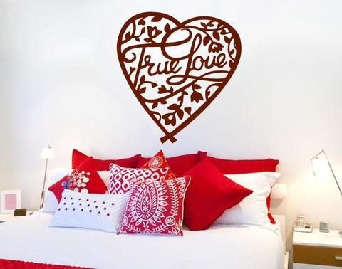 True Love Heart Wall Sticker - Wall Chick