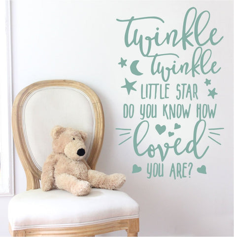 Twinkle Twinkle Tall Wall Sticker - Wall Chick