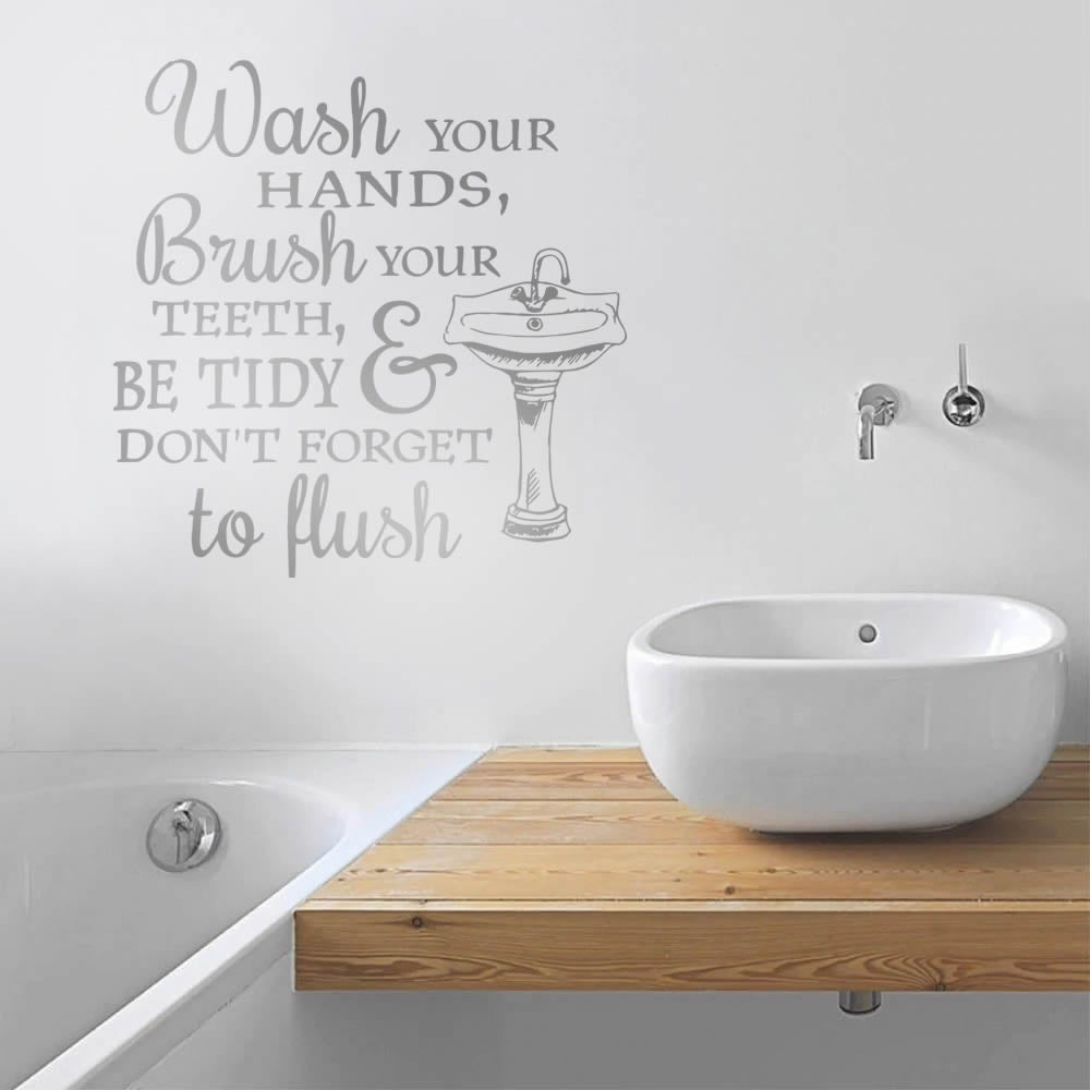 Wash Your Hands Wall Sticker