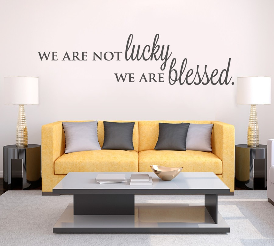 We Are Not Lucky Wall Sticker - Wall Chick