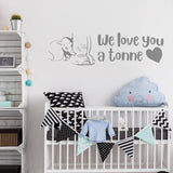 We Love You a Tonne Dumbo Wall Sticker