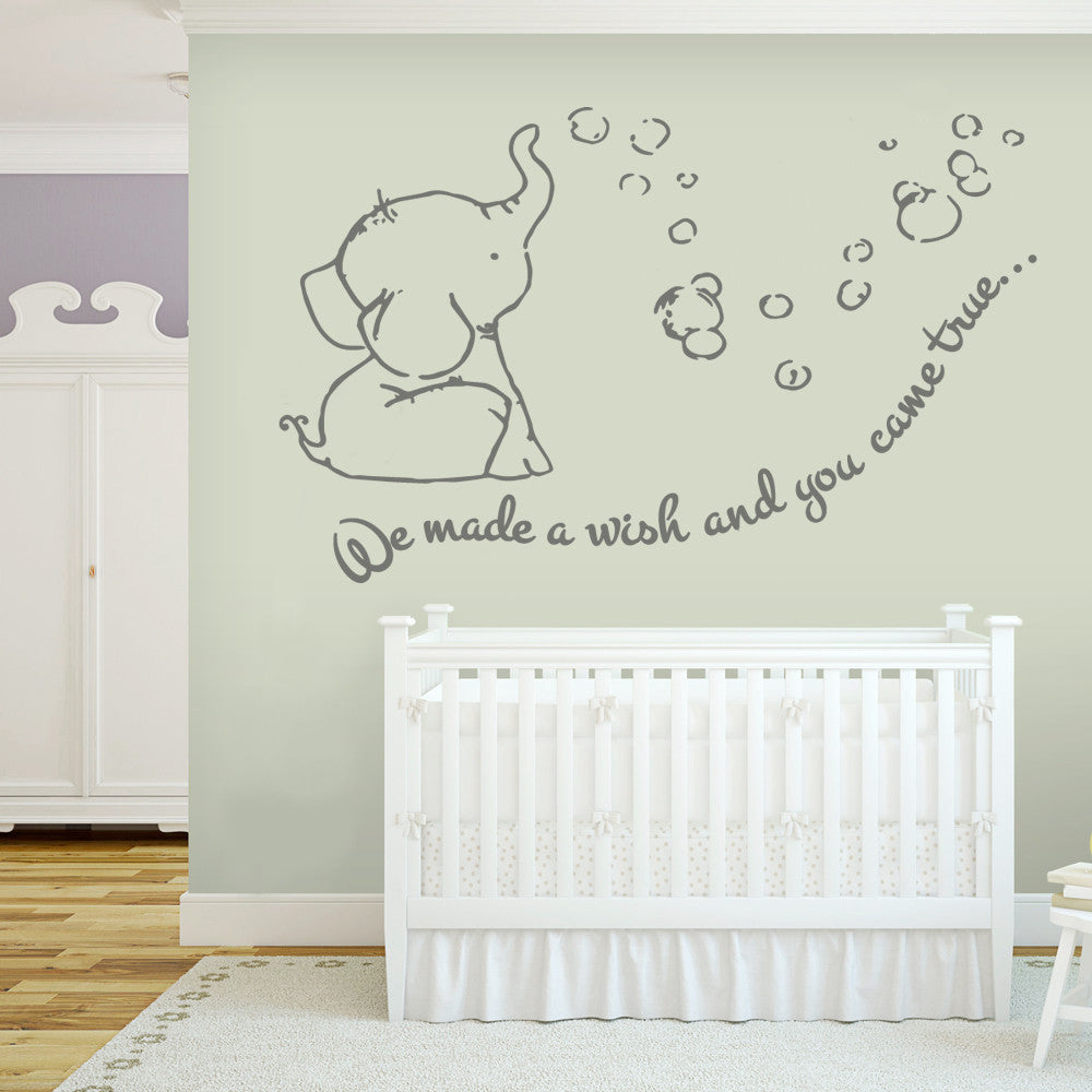 We Made a Wish Dumbo Wall Sticker