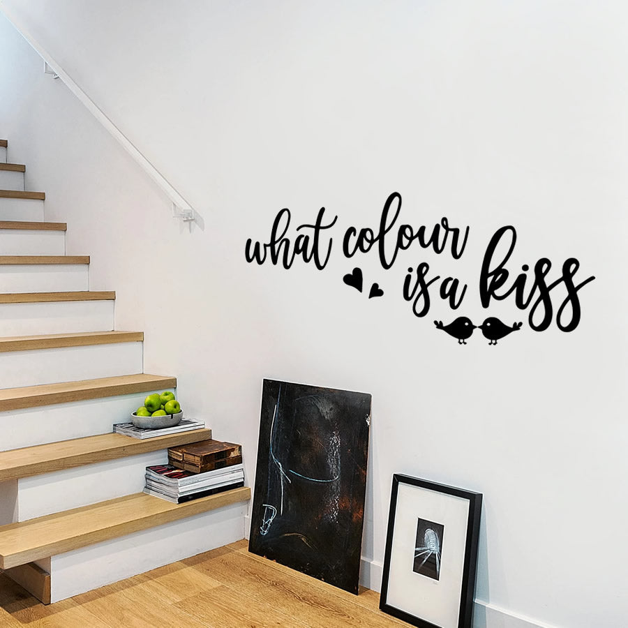 What Colour is a Kiss Wall Sticker
