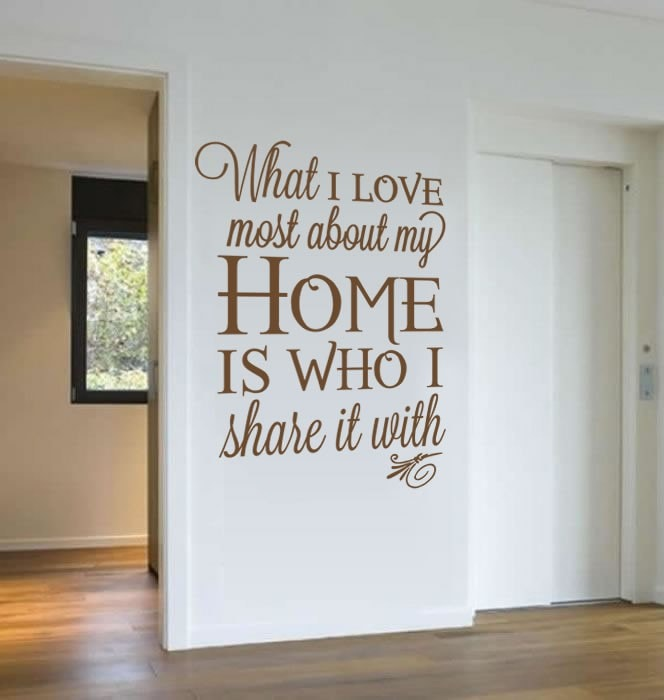What I love Most Wall Sticker - Wall Chick