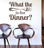 What The Fork Is For Dinner Wall Sticker - Wall Chick