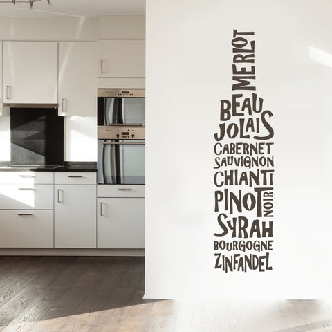 Wine Bottle Wall Sticker - Wall Chick