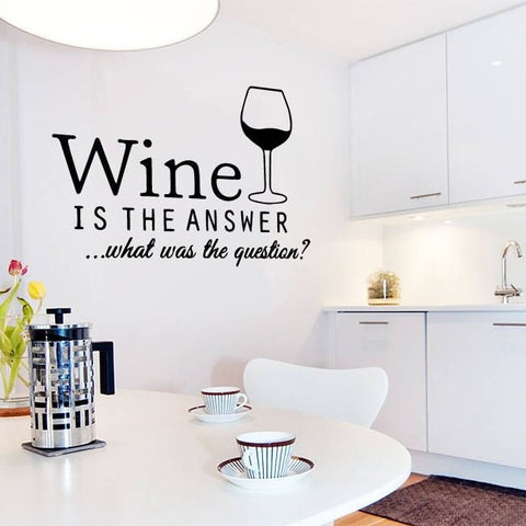 Wine is the Answer Wall Sticker - Wall Chick