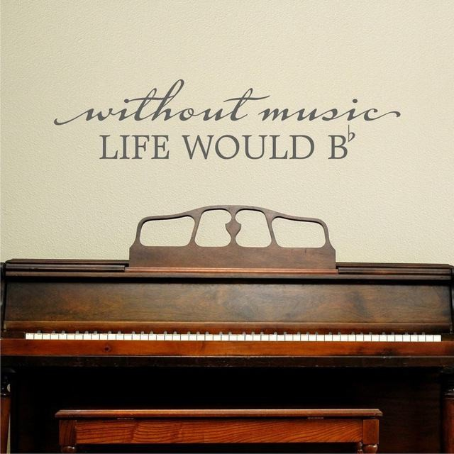 Without Music Wall Sticker - Wall Chick
