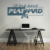 Work Hard Play Hard Wall Sticker - Wall Chick