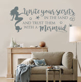 Write your Secrets In The Sand Wall Sticker
