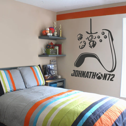 Xbox Controller with Name Wall Sticker