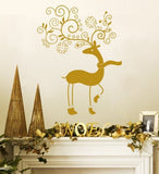 Curly Reindeer Wall Sticker - Wall Chick