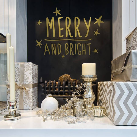 Merry and Bright Wall Sticker - Wall Chick