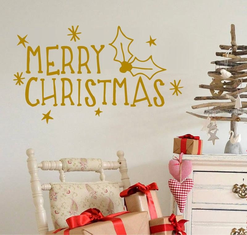 Merry Christmas Wall Sticker - Wall Chick
