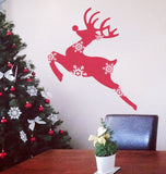 Reindeer Snowflakes Wall Sticker - Wall Chick