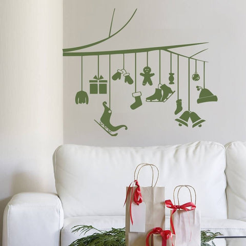 Christmas Branch Wall Sticker - Wall Chick