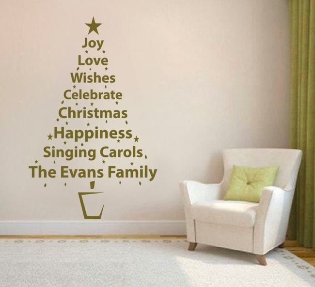 Personalised Word Tree Wall Sticker - Wall Chick