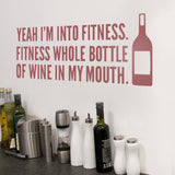 Yeah I'm Into Fitness Wall Sticker - Wall Chick