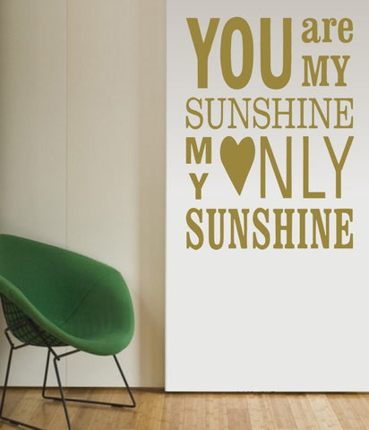 You Are My Sunshine Tall Wall Sticker - Wall Chick