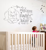 You Are So Precious To Me Dumbo Wall Sticker