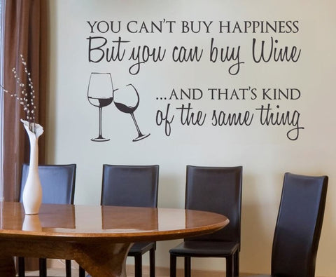 You Can't Buy Happiness Wall Sticker - Wall Chick