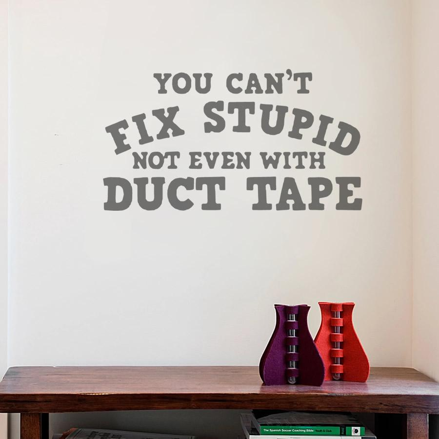You Can't Fix Stupid Wall Sticker