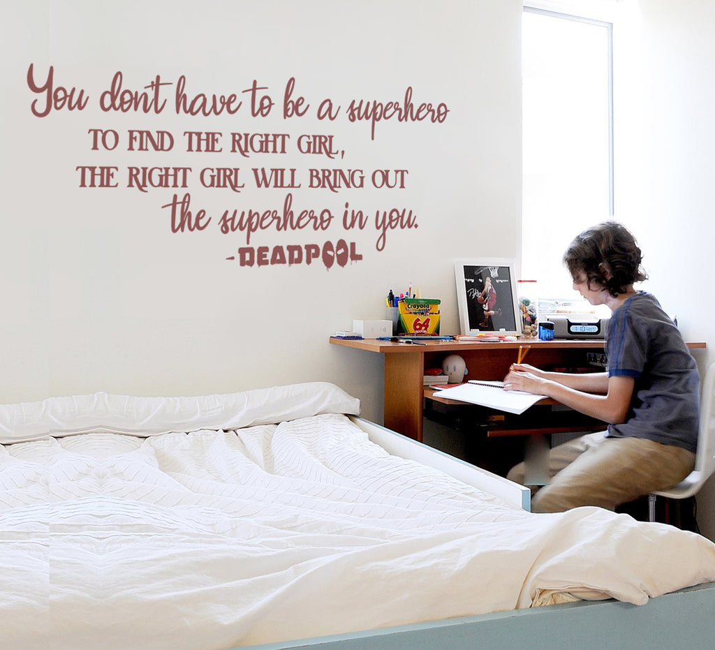 You Don't Have To Be A Superhero Wall Sticker