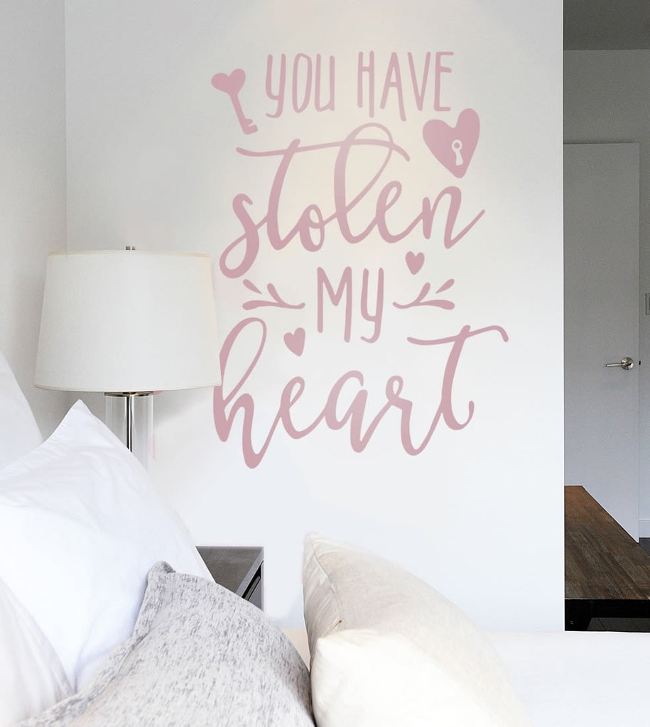 You Have Stolen My Heart Wall Sticker - Wall Chick